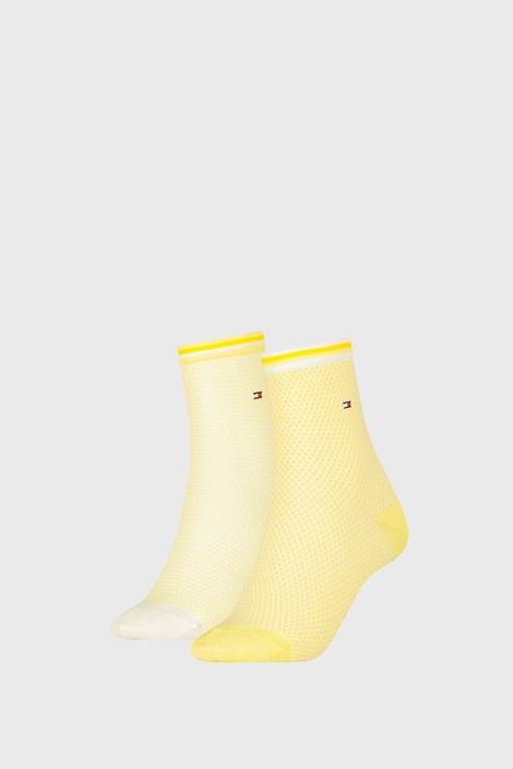 2 PACK ženske nogavice Tommy Hilfiger Honeycomb Yellow