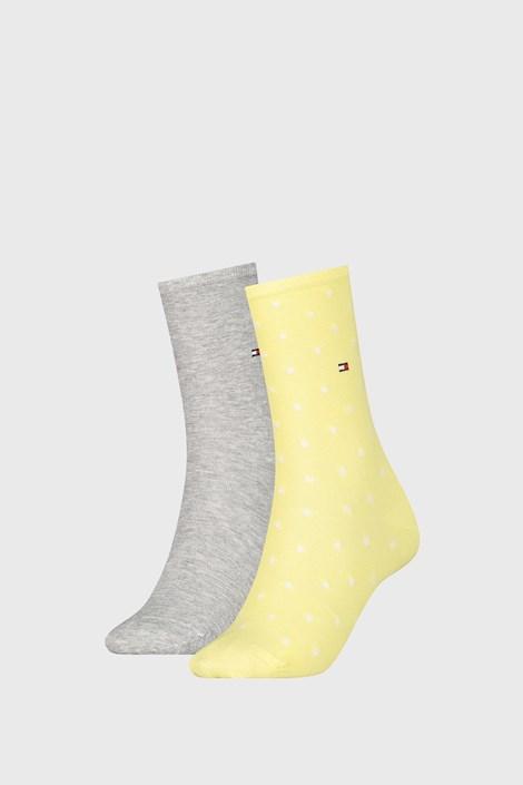 2 PACK ženske nogavice Tommy Hilfiger Dot Yellow