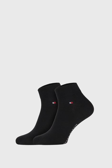 2 PACK črne nogavice Tommy Hilfiger Quarter