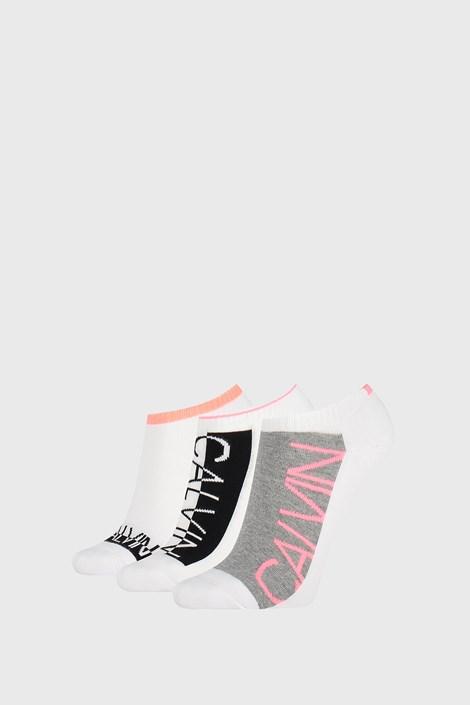 3 PACK bele ženske nogavice Calvin Klein Nola