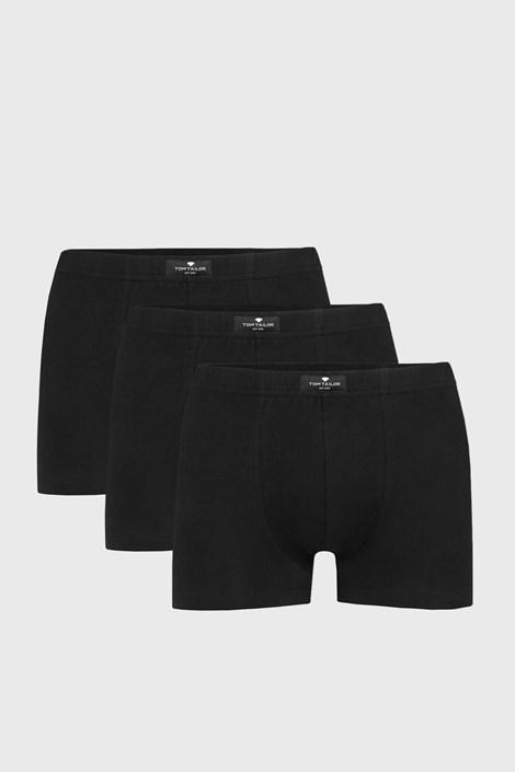 3 PACK črne boksarice Tom Tailor Hip