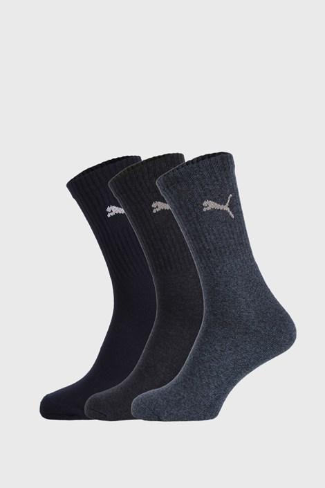 3 PACK temnomodre nogavice Puma Sport