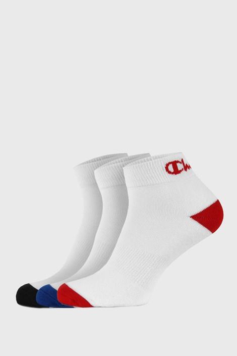 3 PACK belih nogavic do gležnjev Champion