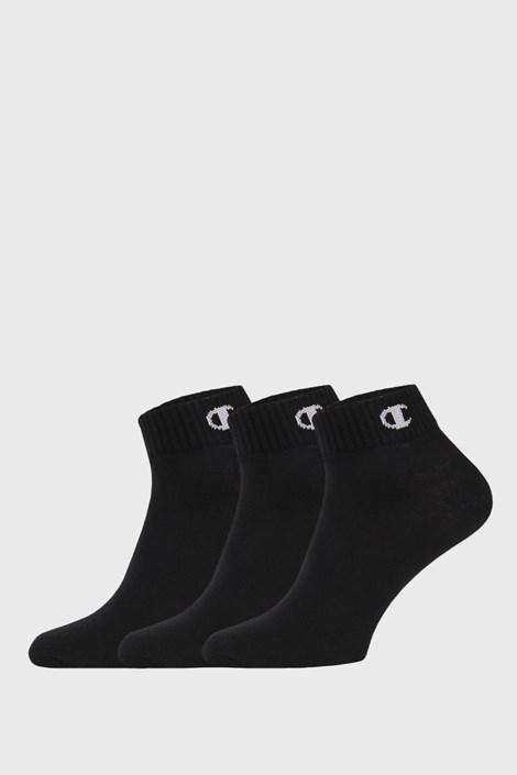 Trojno pakiranje črnih nogavic do gležnjev Champion