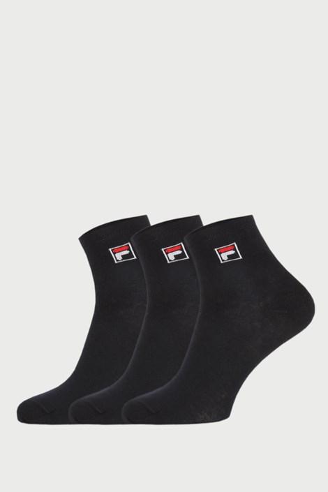Trojno pakiranje črnih nogavic do gležnjev FILA