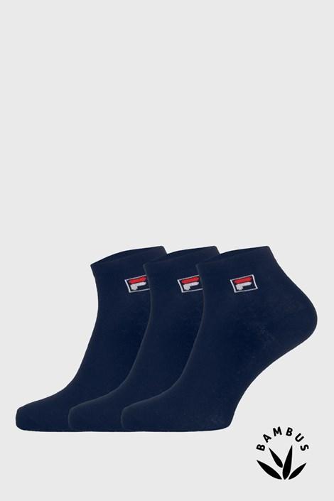 Trojno pakiranje temno modrih nogavic do gležnjev FILA