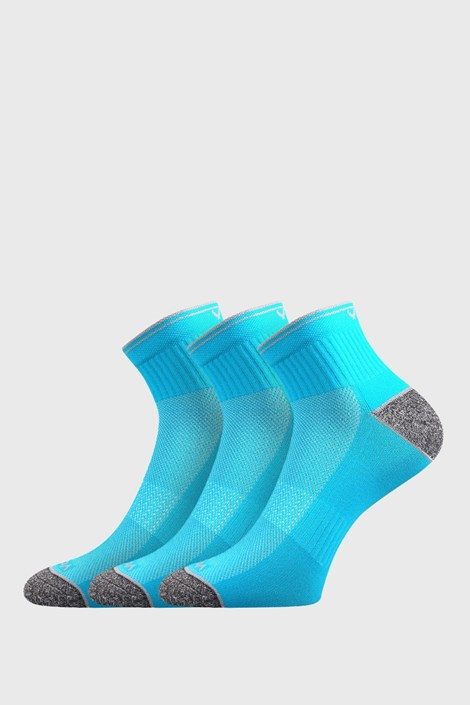 Trojno pakiranje športnih nogavic Ray, neonsko turkizne barve