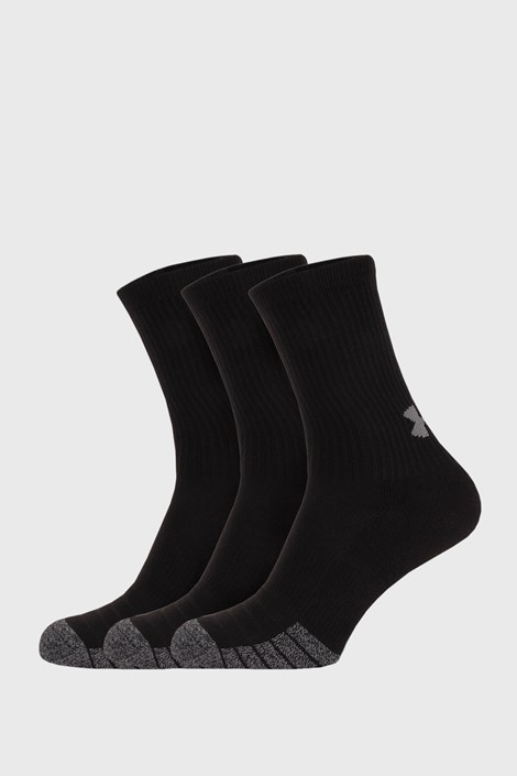 3 PACK črne visoke nogavice Under Armour