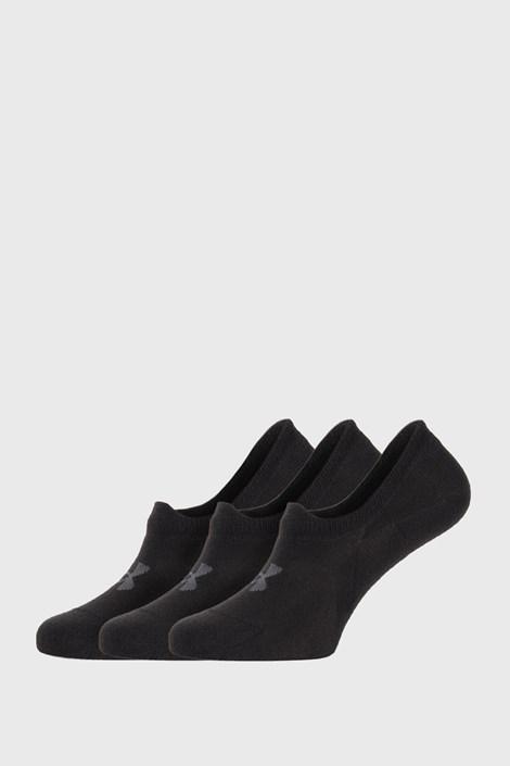 3 PACK črne nizke nogavice Under Armour