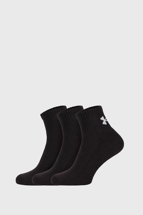 3 PACK črne nogavice Core Under Armour