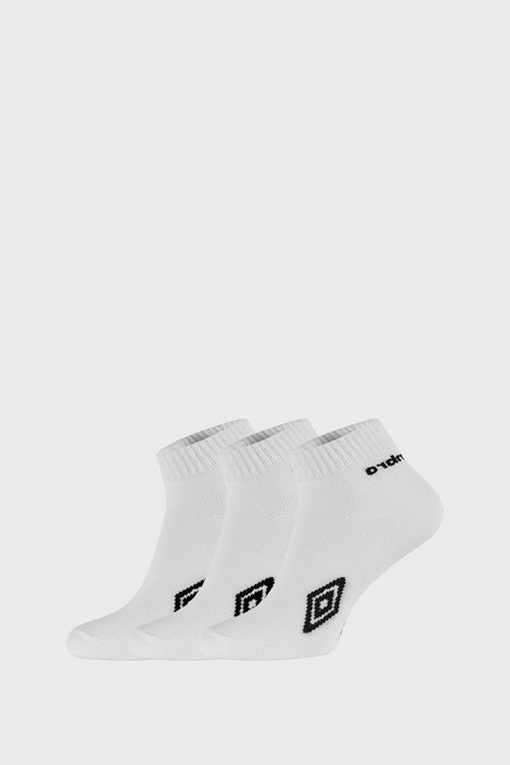 3 PACK nizke bele nogavice Umbro