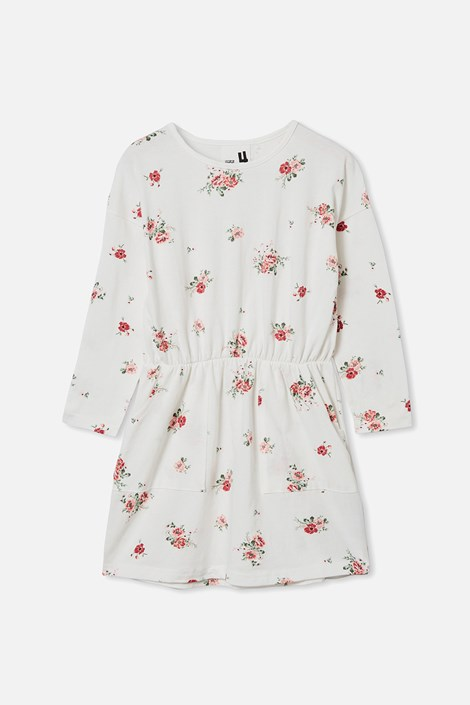 Dekliška cvetlična obleka Sigrid