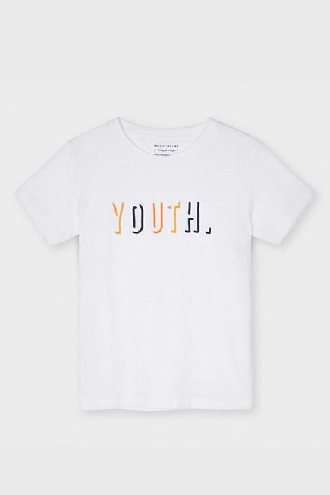 Bela deška majica Mayoral Youth