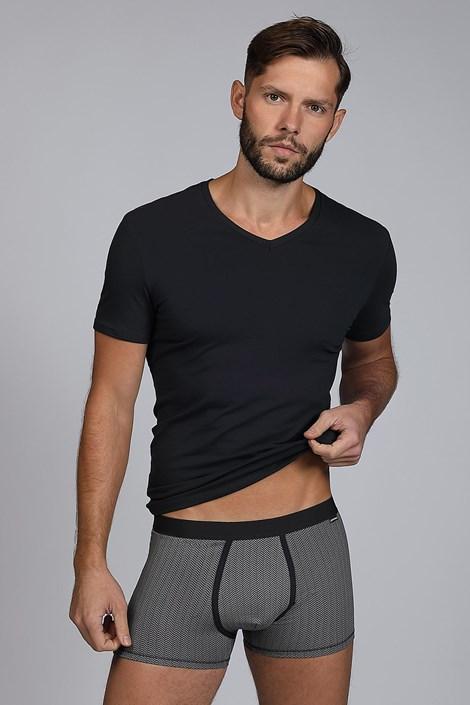 Črn moški KOMPLET majica in boksarice Dandy