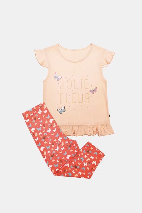 Dekliška oranžna pižama Lila