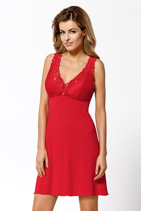 Ženska spalna srajčka Bona – rdeča