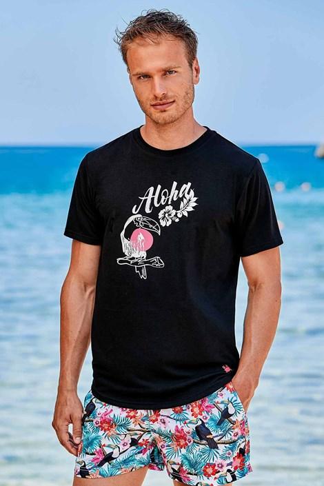 Črna majica Hawaii
