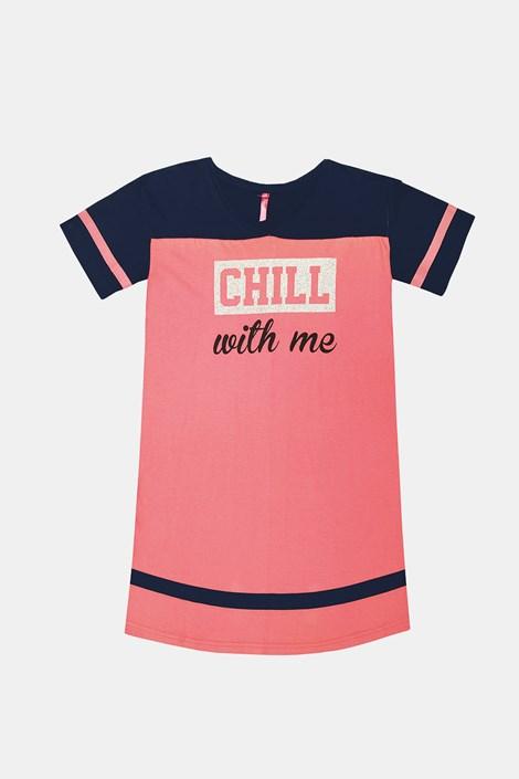 Dekliška roza spalna srajca Crew