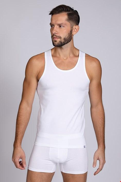 Moška majica brez rokavov, bela