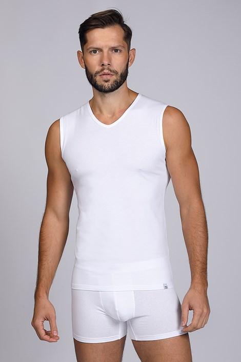 Bela majica brez rokavov