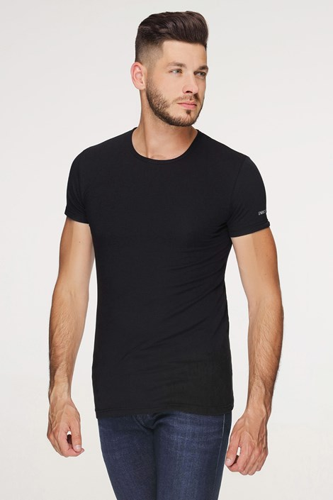 Črna bombažna majica PLUS SIZE