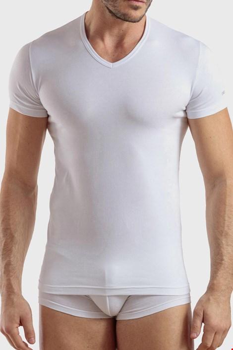 Bela bombažna majica Max PLUS SIZE