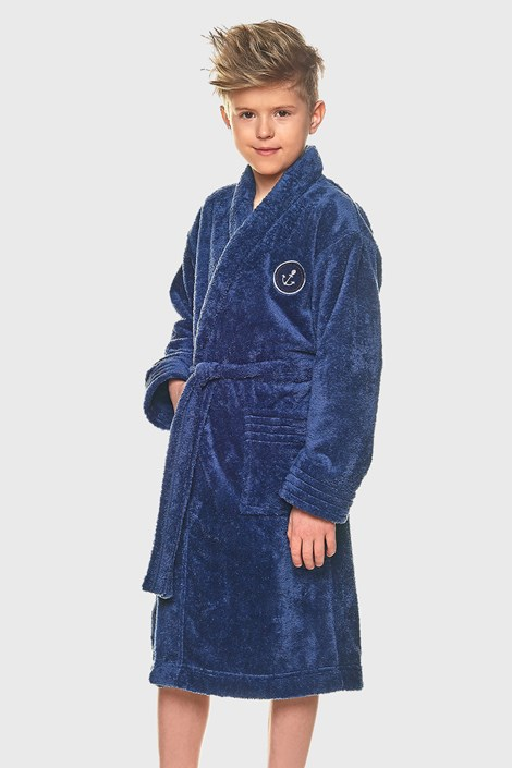 Deški kopalni plašč Elegant, modri