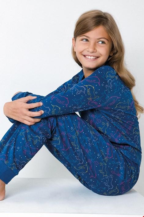 Dekliška modra pižama Samorog