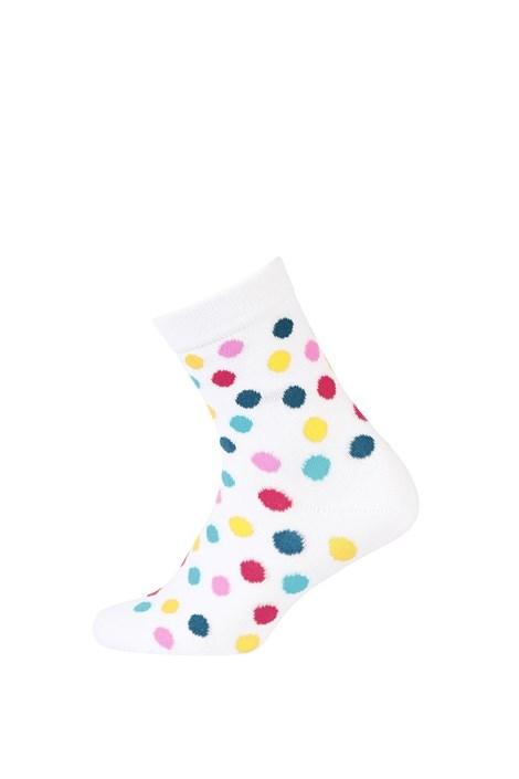 Otroške gladke nogavice s pisanimi pikami