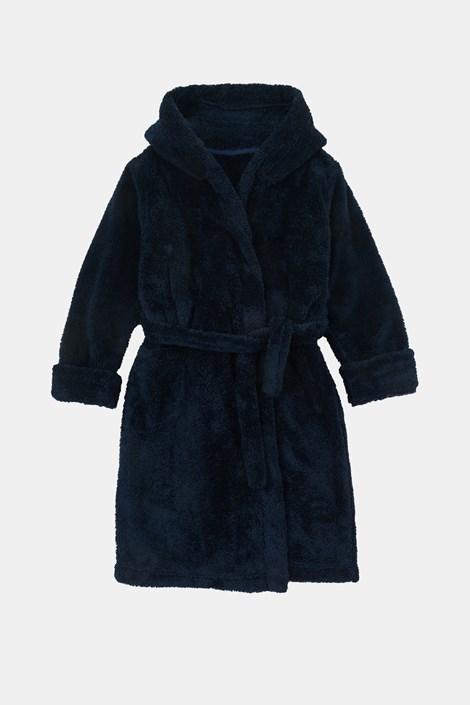 Deški kopalni plašč temno modre barve