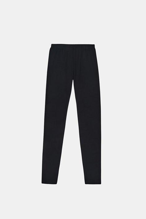 Dekliške legice Cotton, črne