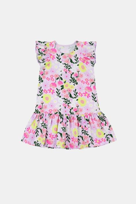 Dekliška obleka Flowers