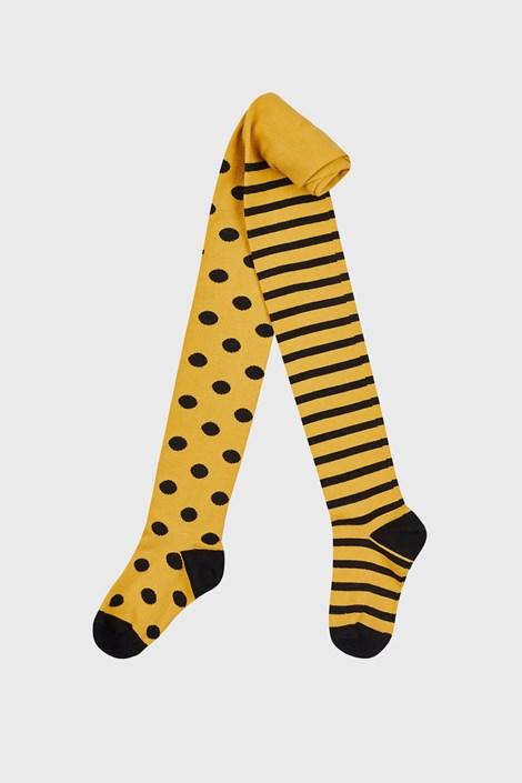 Dekliške hlačne nogavice rumene pike