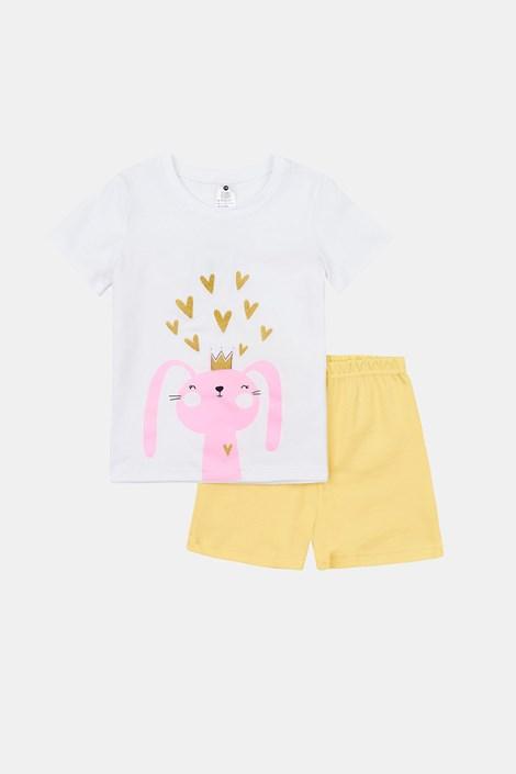 Dekliška svetleča pižama Rabbit