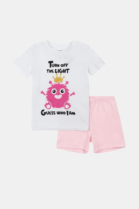 Dekliška svetleča pižama Monsters